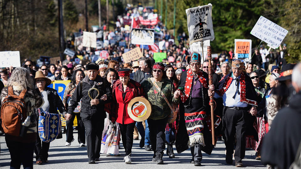 H16 Trans pipeline protest