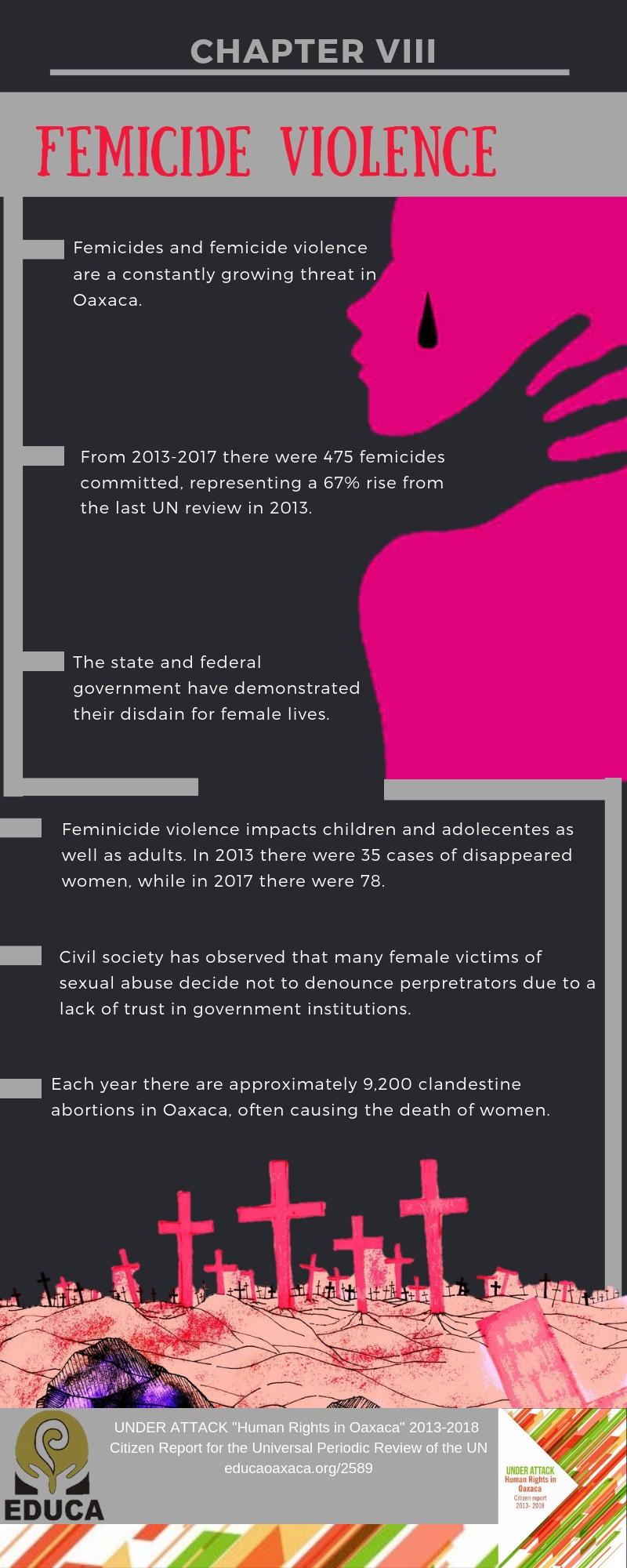 CAPÍTULO VIII VIOLENCIA FEMINICIDA