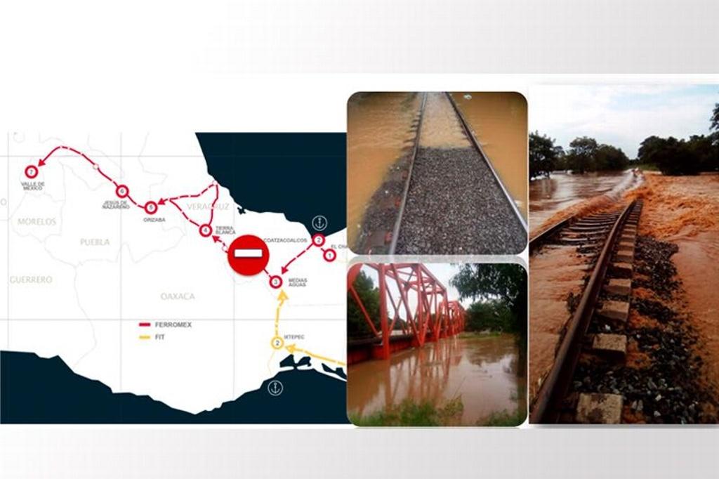 parado el trafico de trenes en el sur
